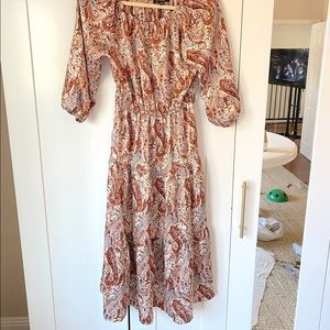 LuLus Paisley Print Dress